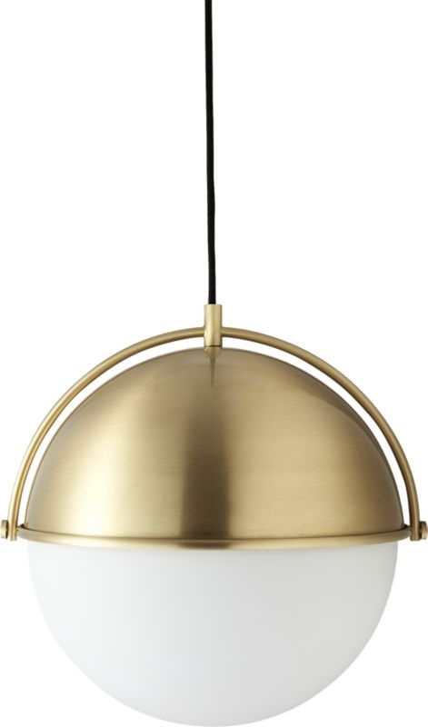 Great Wellknown Cb2 Light Fixtures Regarding Globe Pendant Light Industrial Ranges And Pendants (View 7 of 25)