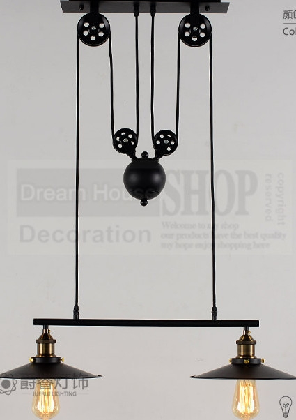 Great Wellknown Double Pulley Pendant Lights Intended For Online Buy Wholesale Color Light Art From China Color Light Art (Image 9 of 25)