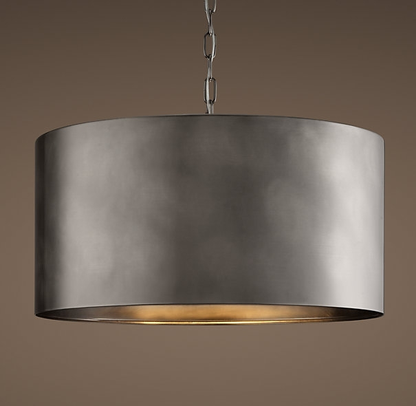 Great Wellknown Oversized Drum Pendant Lights Regarding Would Look Great With Concrete Counter Tops Antiqued Metal Drum (Image 17 of 25)