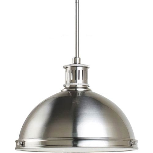Great Well Known Pendant Lighting Brushed Nickel Pertaining To Nickel Brushed Pendant Lighting Bellacor (Image 14 of 25)