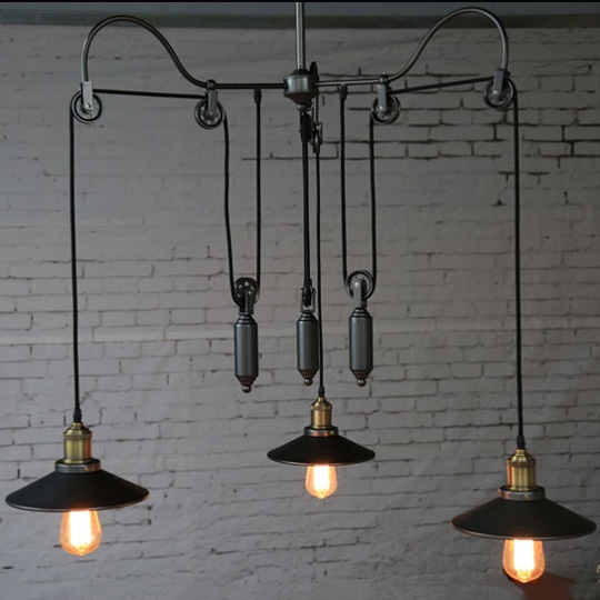 Great Wellknown Pulley Pendant Lights Throughout Popular Pulley Lights Buy Cheap Pulley Lights Lots From China (Image 11 of 25)