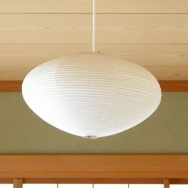Great Wellliked Paper Pendant Lamps For Noguchi 15a21a26a Japanese Paper Saucer Pendant Lamp Stardust (Image 17 of 25)
