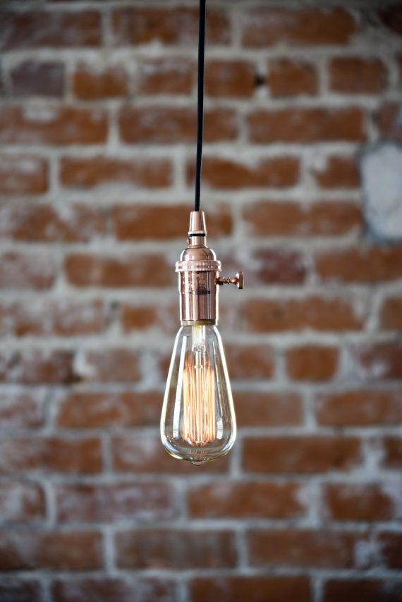Great Widely Used Industrial Bare Bulb Pendant Lights Inside Best 25 Plug In Pendant Light Ideas On Pinterest Edison (Image 14 of 25)