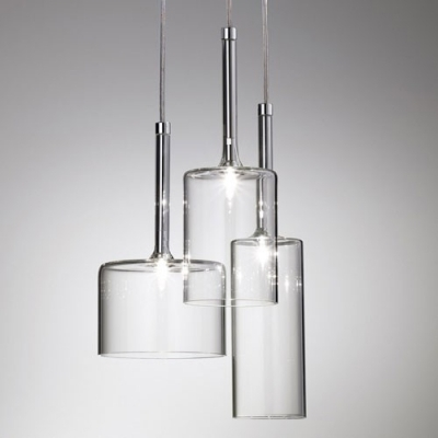 Great Widely Used Latest Pendant Lights Inside Round Canopy Clear Glass Multi Light Pendant Light In Designer (View 7 of 25)