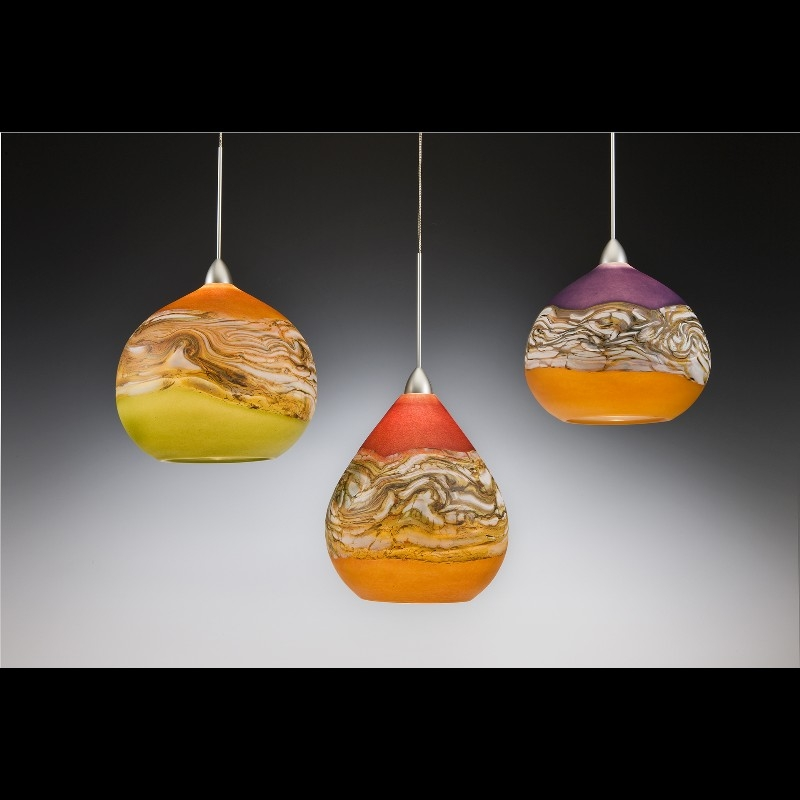 Great Widely Used Murano Glass Mini Pendant Lights Pertaining To The Exterior Of These Pieces Are Finished In A Smooth Lustrous (Image 13 of 25)