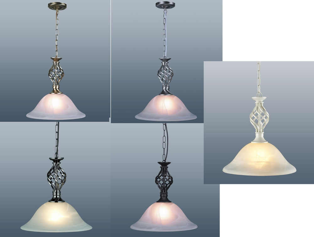 Great Widely Used Murano Glass Pendant Lights Regarding Details About Classic Barley Twist Ceiling Light Pendant Lamp (View 13 of 25)