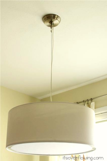 Great Widely Used West Elm Drum Lights Pertaining To Switching Out A Light Fixture West Elm Style Its Overflowing (Image 18 of 25)