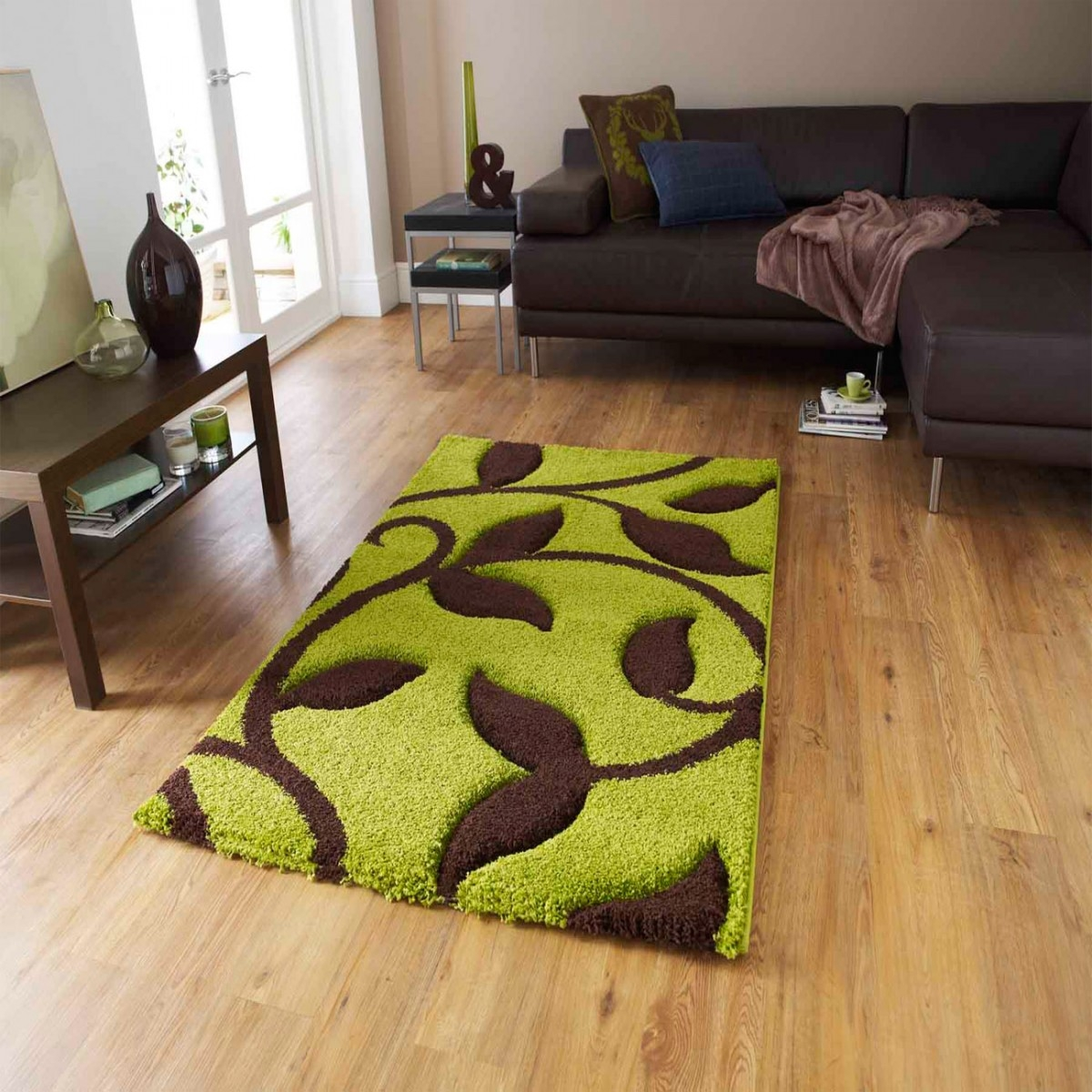 Green Brown Rugs Roselawnlutheran With Green And Brown Rugs (Image 8 of 15)