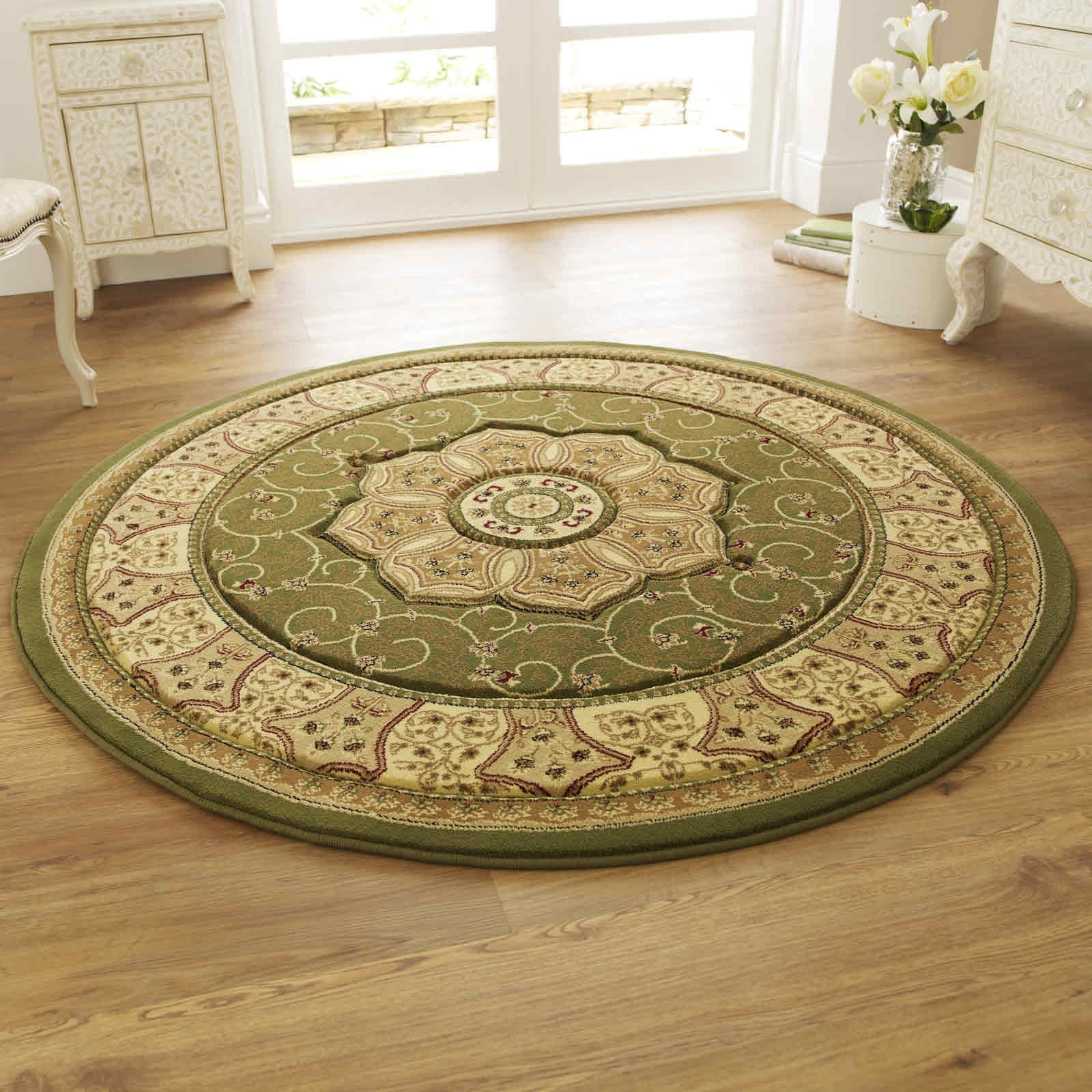 Green Circular Rug Roselawnlutheran With Circular Green Rugs (Image 7 of 15)