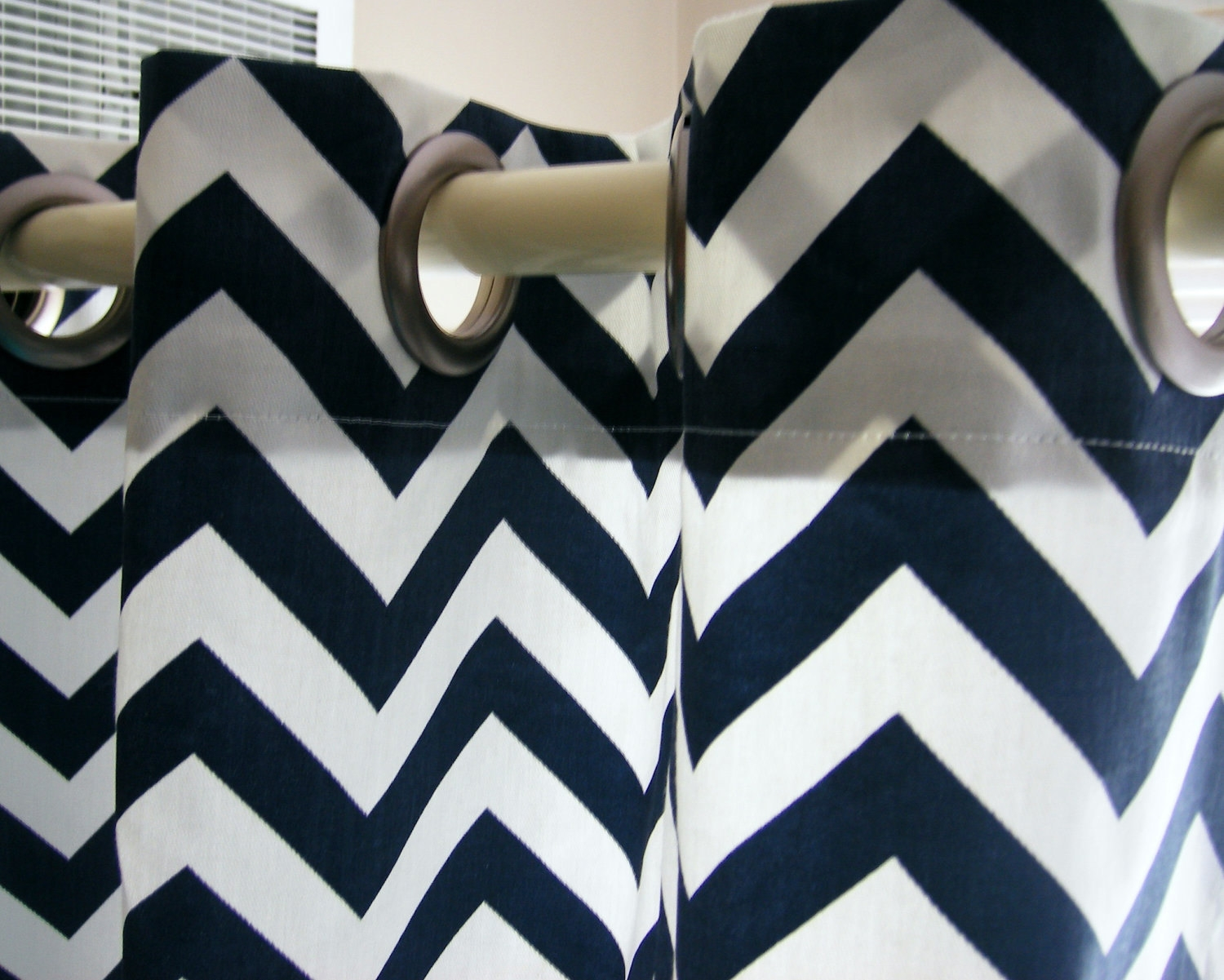 Grey Chevron Shower Curtain Within Gray Chevron Shower Curtains (Image 10 of 25)