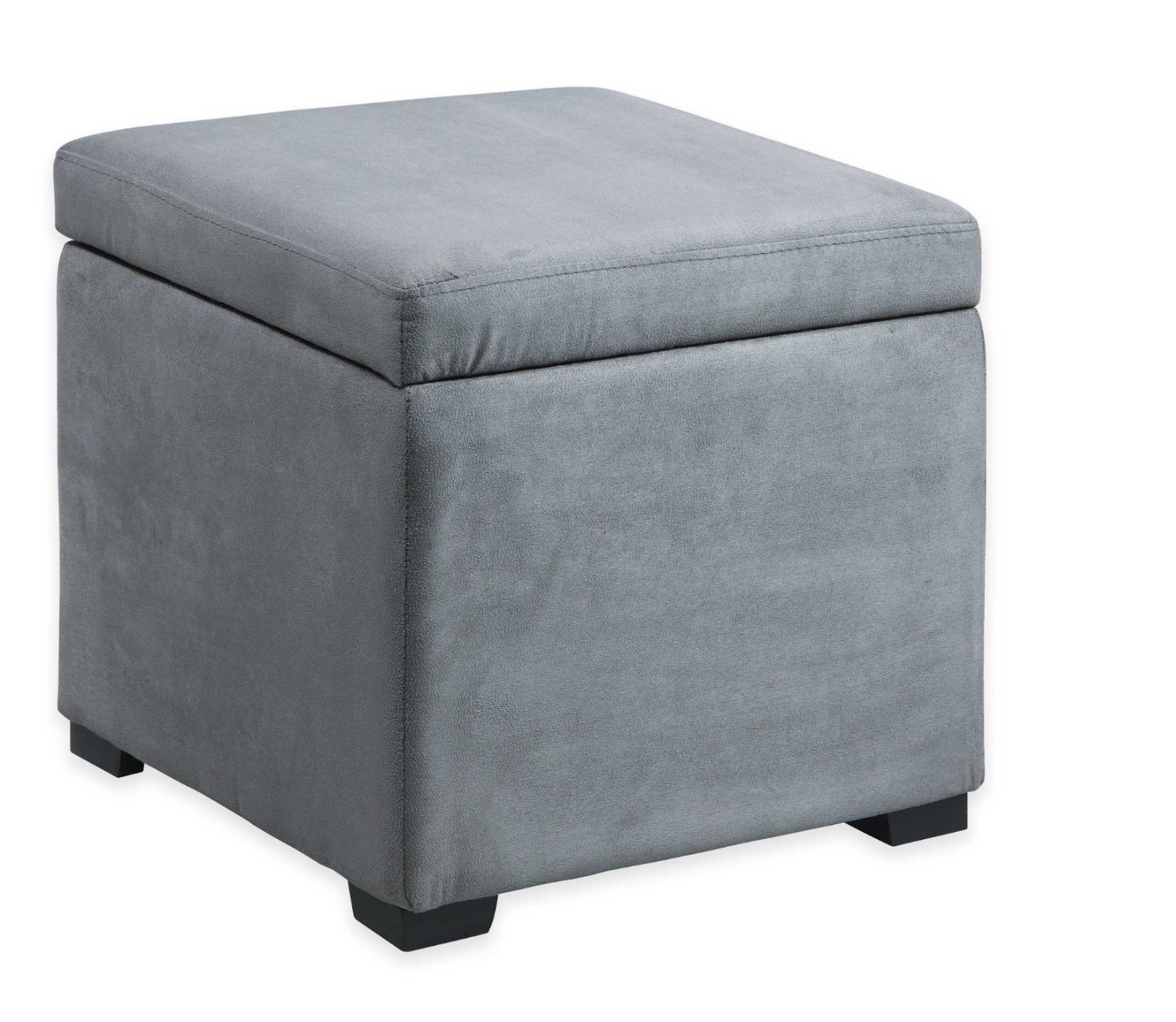 Grey Jewelry Storage Ottoman Foot Stool Pouffe Bench Footstool For Footstools And Pouffes With Storage (Image 4 of 15)