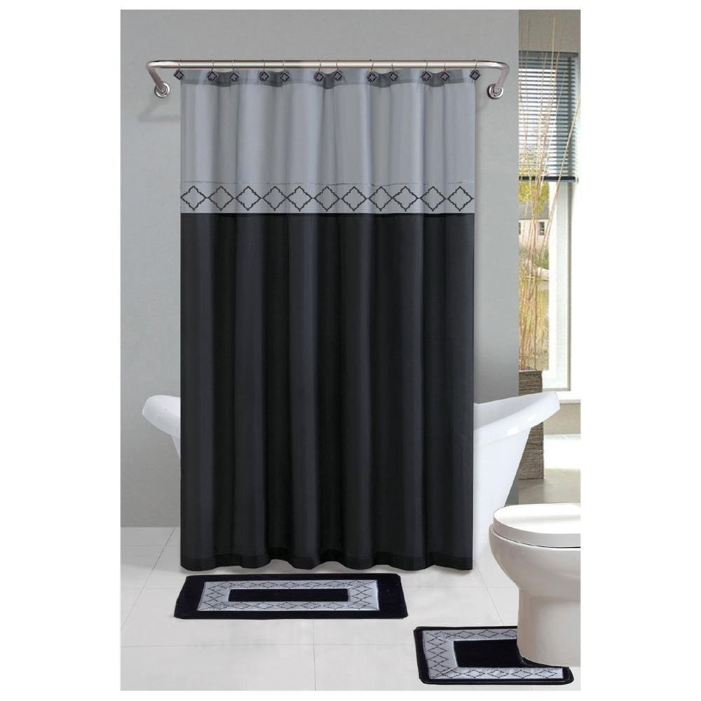 Grey Shower Curtains Curtains Decoration With Regard To Gray Chevron Shower Curtains (Image 12 of 25)