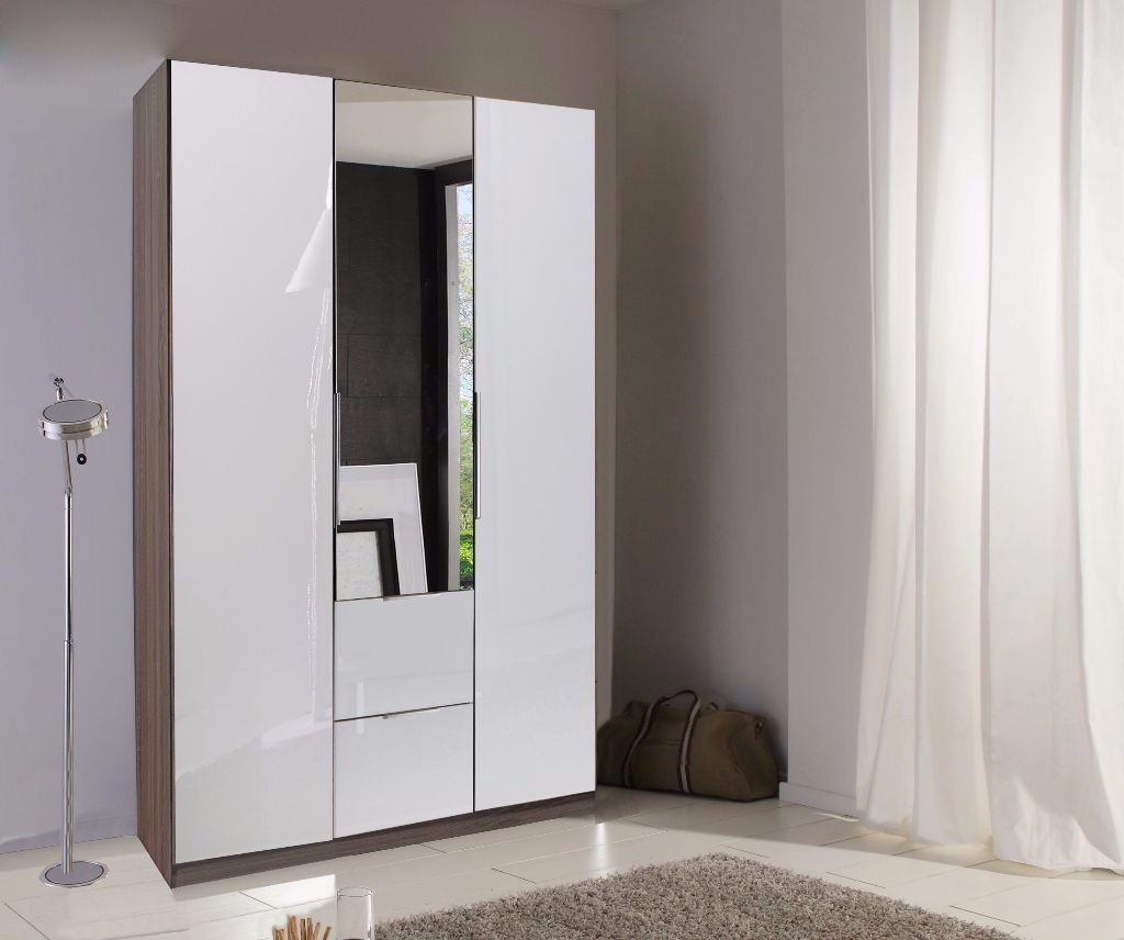 Guaranteed Real German Wardrobe High Gloss 3 Door White Wardrobe Inside 3 Door White Wardrobes (Image 9 of 25)