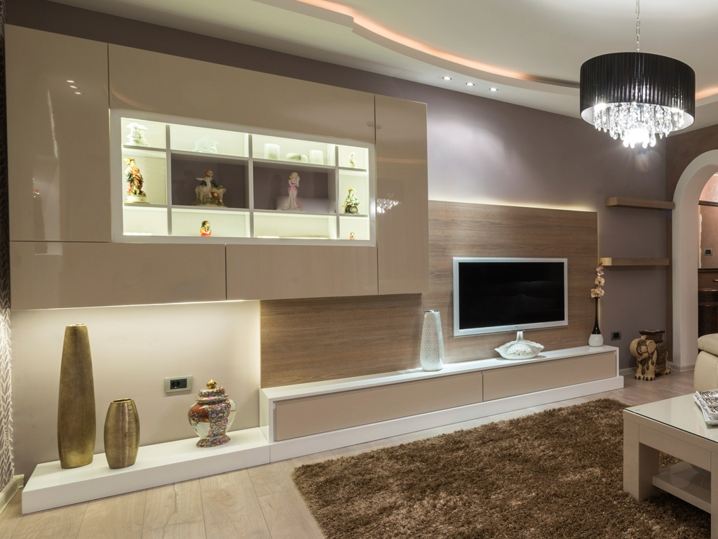 Hall Wall Units Inside Bespoke Tv Cabinets (Image 10 of 15)