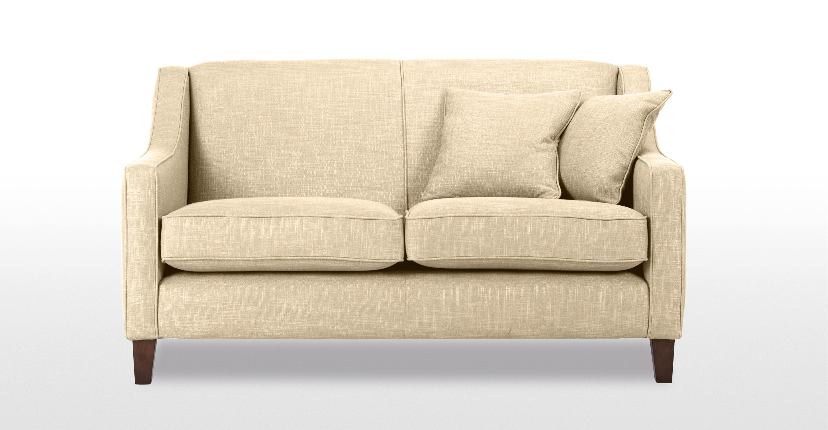 Halston 2 Seater Sofa In Cream Made With Two Seater Chairs (Image 7 of 15)