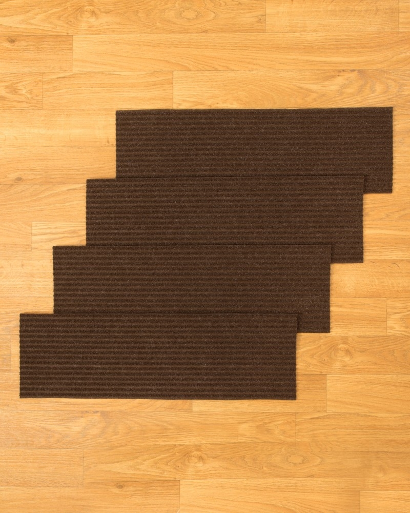 Halton Carpet Stair Treads Chocolate Set Of 13 Natural Home In Carpet Stair Treads And Rugs 9× (Image 4 of 15)