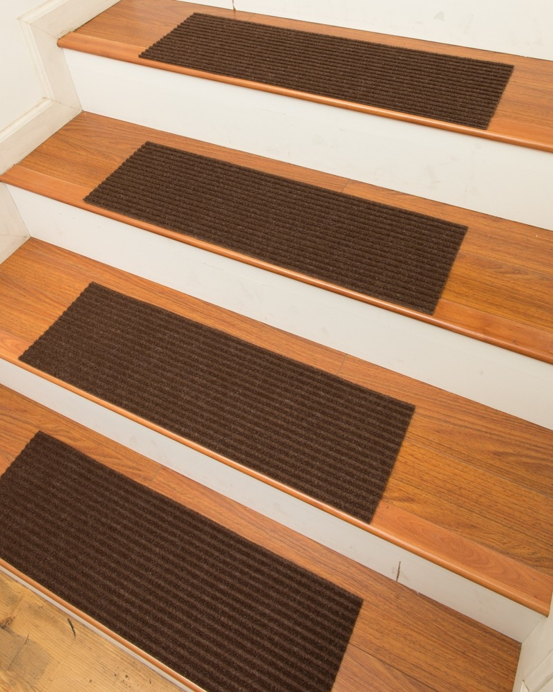 Halton Carpet Stair Treads Chocolate Set Of 13 Natural Home With Stair Tread Rug Sets (Image 10 of 15)