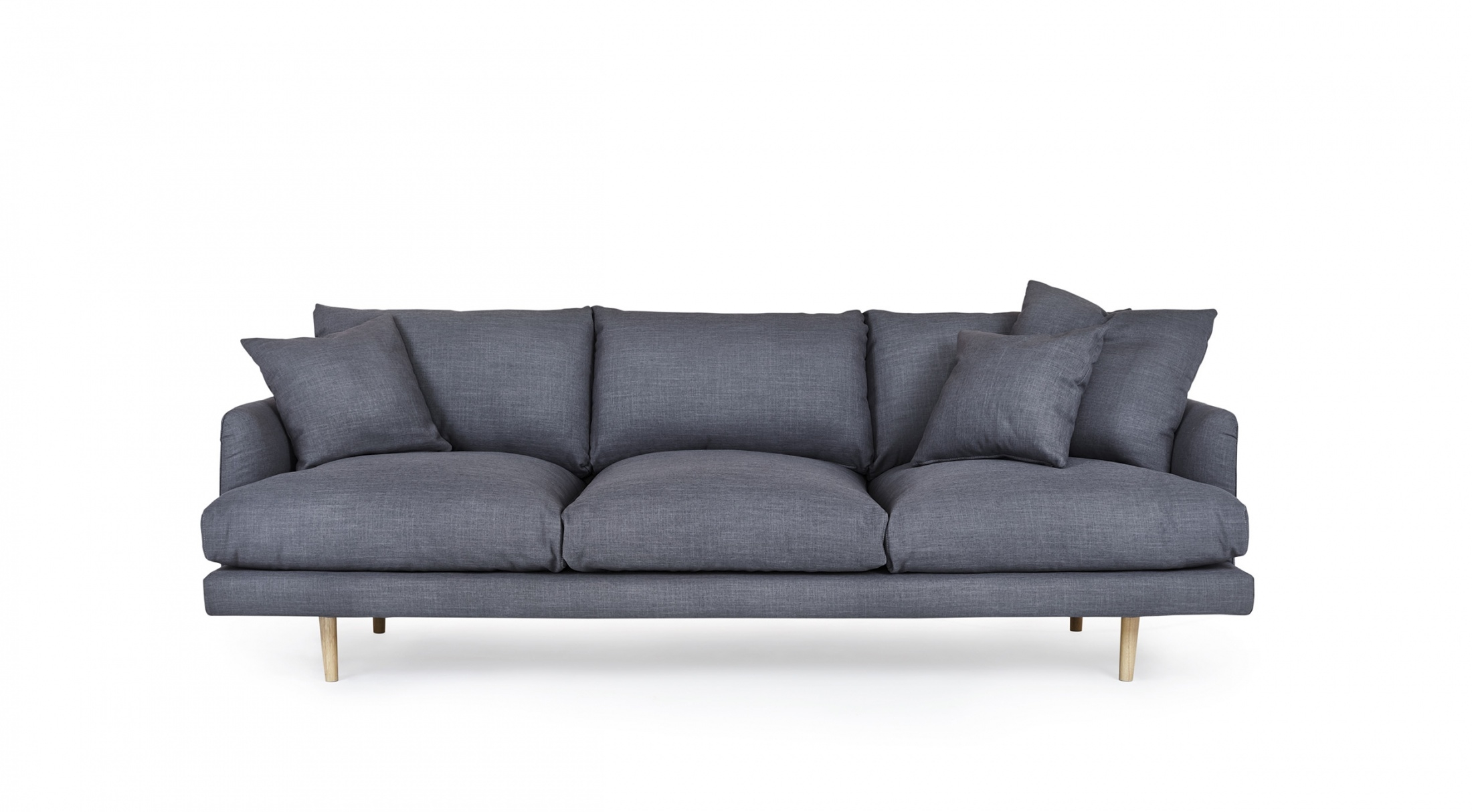 Hampton 4 Seat Sofa Loungelovers Pertaining To 4 Seater Couch (Image 12 of 15)