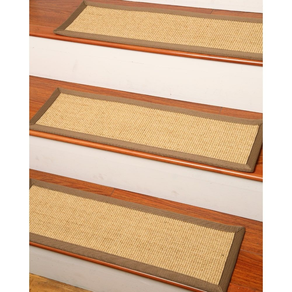 Hand Crafted Sumatra Sisal Carpet Stair Tread 9 X 25 Set Of Regarding Set Of 13 Stair Tread Rugs (View 14 of 15)