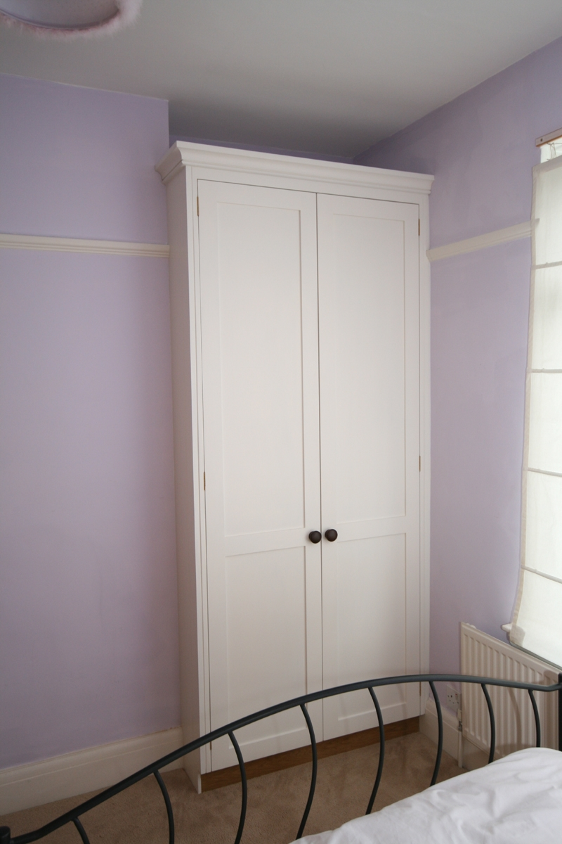 Hand Painted Bedroom Alcove Wardrobes Bath With Regard To Alcove Wardrobes Designs (Image 11 of 15)