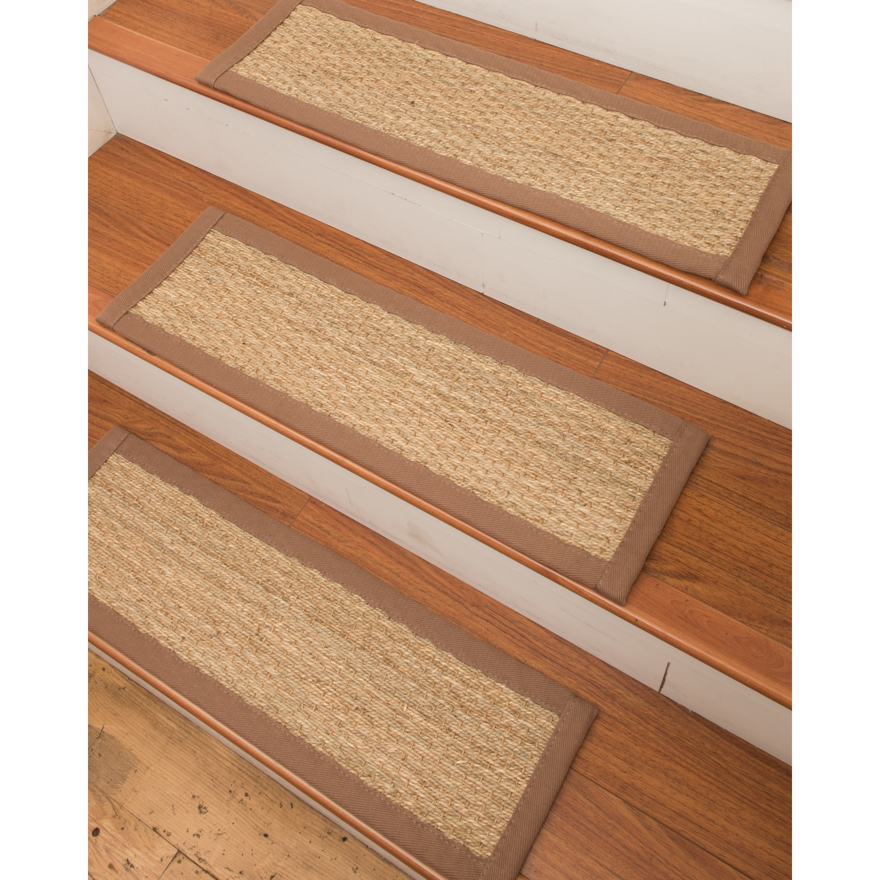 Handcrafted Half Panama Carpet Stair Treads Malt 9 X 29 In Carpet Stair Treads And Rugs 9× (View 3 of 15)