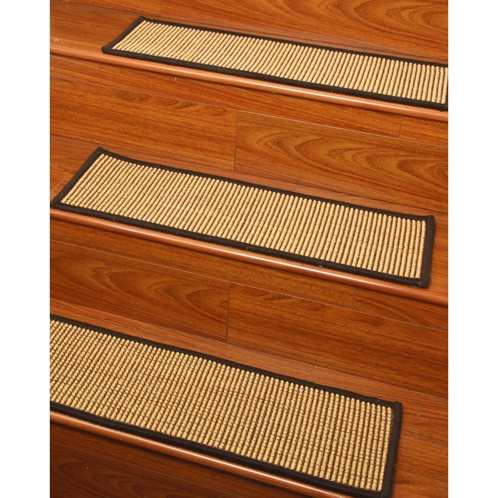 Handcrafted Spencer Sisal Carpet Stair Treads 9 X 29 Serged With Carpet Stair Treads And Rugs 9× (Image 8 of 15)