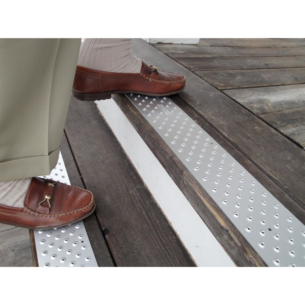 Handi Ramp Non Slip Metal Stair Treads For Outdoor Use Discount Intended For Stair Slip Guards (Image 7 of 15)