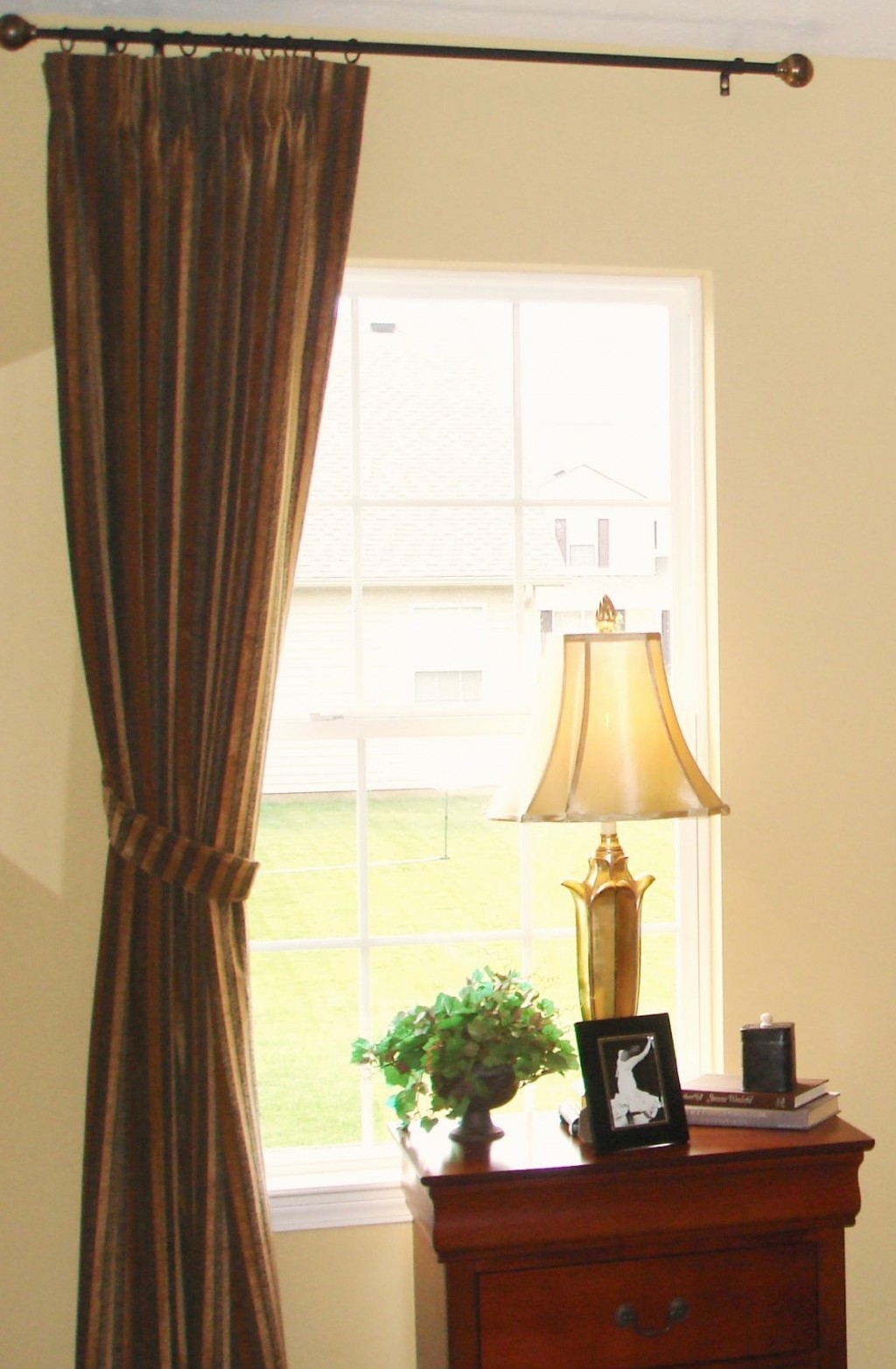 Hanging Curtains From Ceiling Aka Build A Diy Curtain Rod In Throughout Hanging Curtains (View 11 of 25)