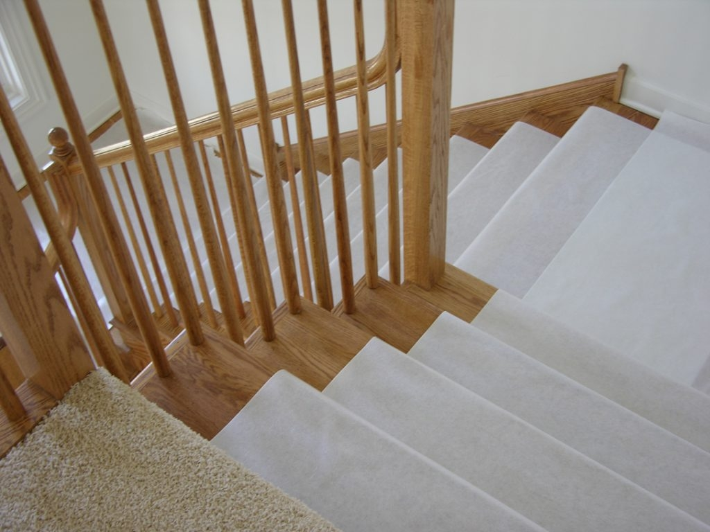 Hardwood Floor Stair Protection Finished Floor Guard In Stair Slip Guards (Image 10 of 15)