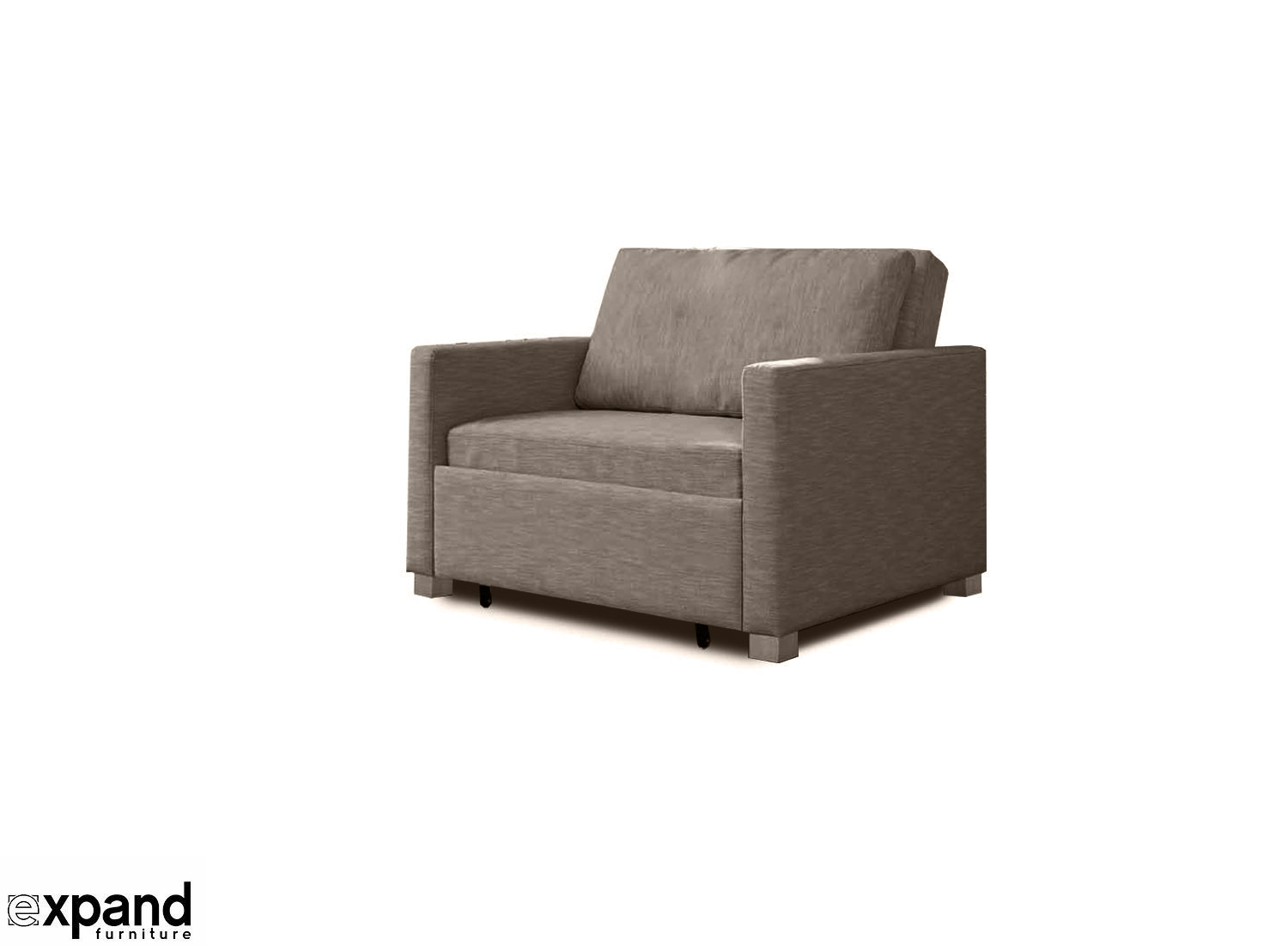 Harmony Single Sofa Bed With Memory Foam Expand Furniture Throughout Single Chair Sofa Bed (Image 7 of 15)