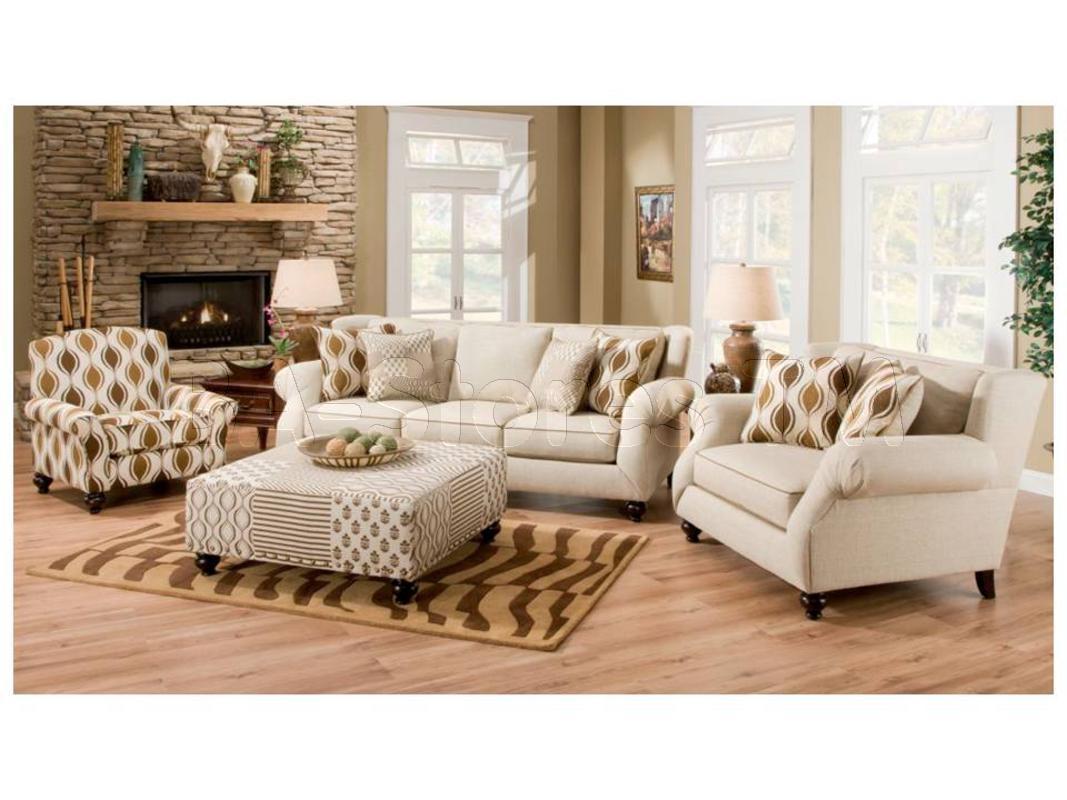 Hazel Simply Linen 4 Pc Sofa Set Sofa Chair Accent Chair And For Sofa And Accent Chair Set (Image 6 of 15)