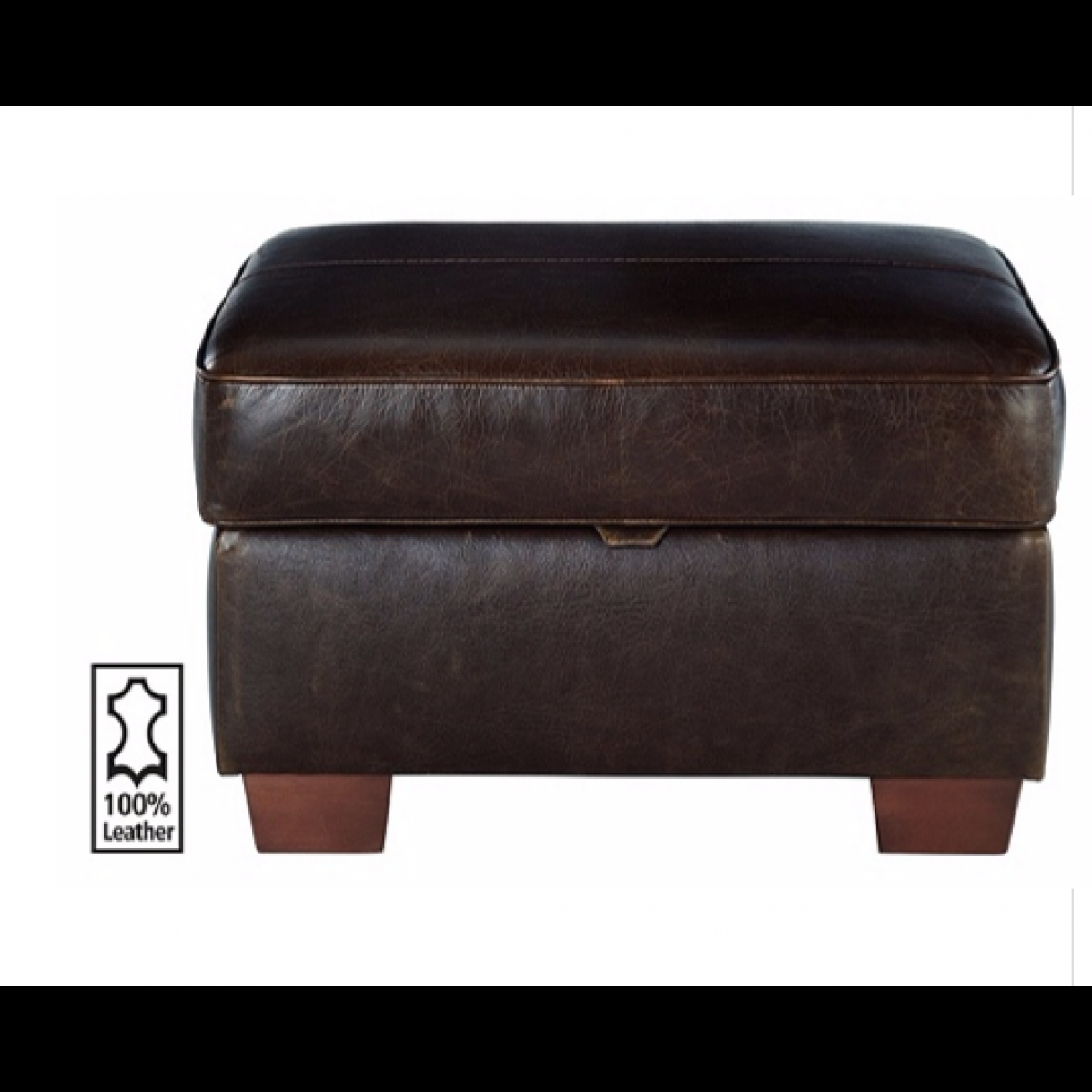 Heart Of House Salisbury Leather Footstool Tan Furnico Village With Leather Footstools (Image 8 of 15)