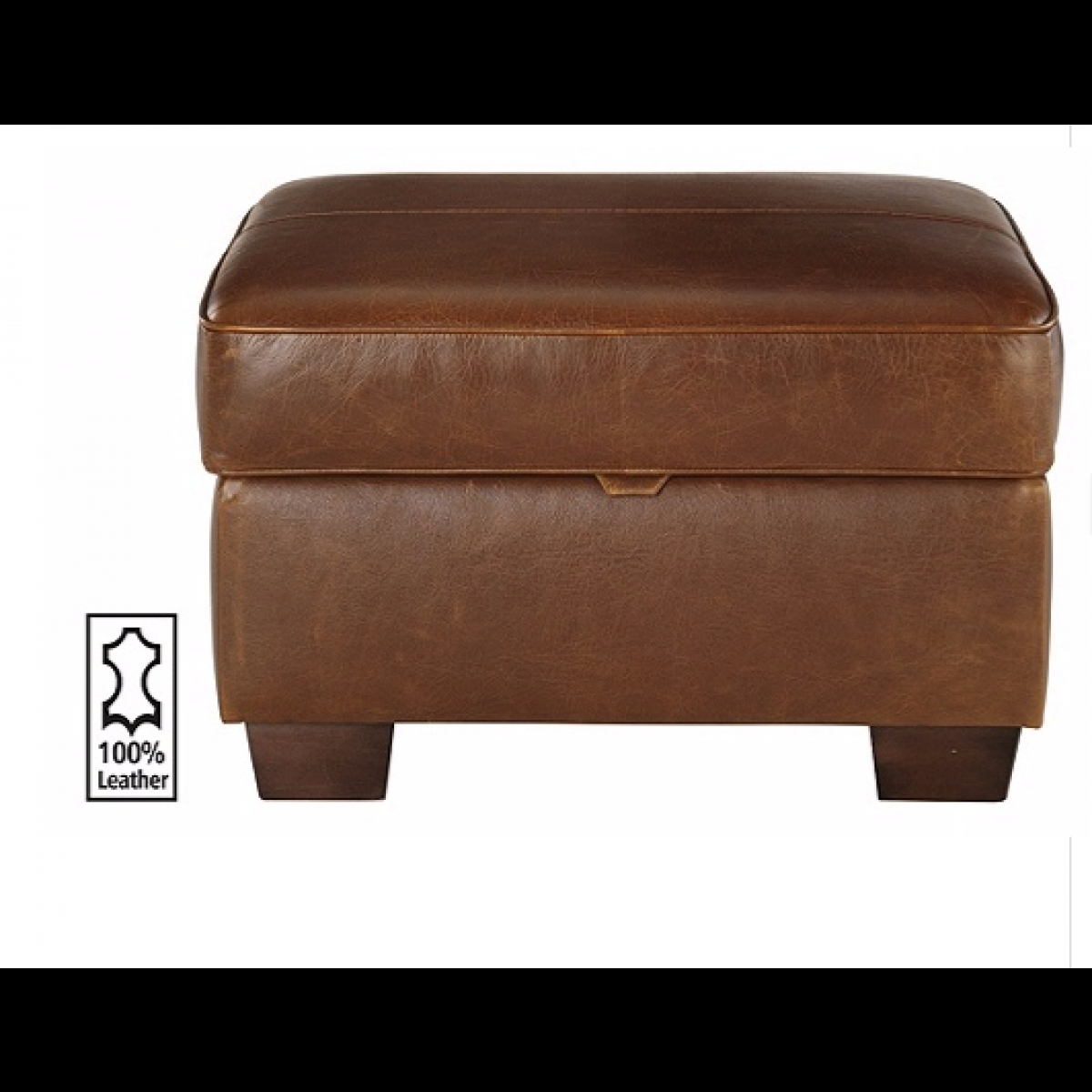 Heart Of House Salisbury Leather Footstool Tan Furnico Village Within Leather Footstools (Image 9 of 15)