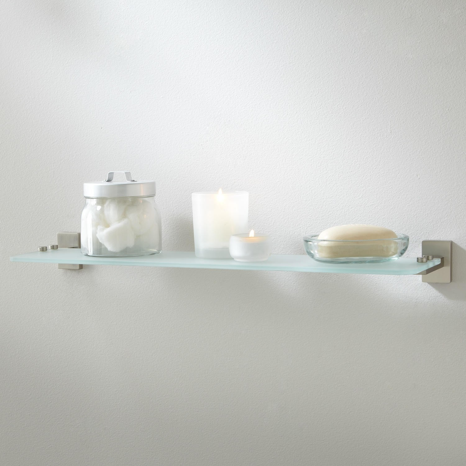 Helsinki Tempered Glass Shelf Bathroom Intended For Frosted Glass Shelves (Image 11 of 15)