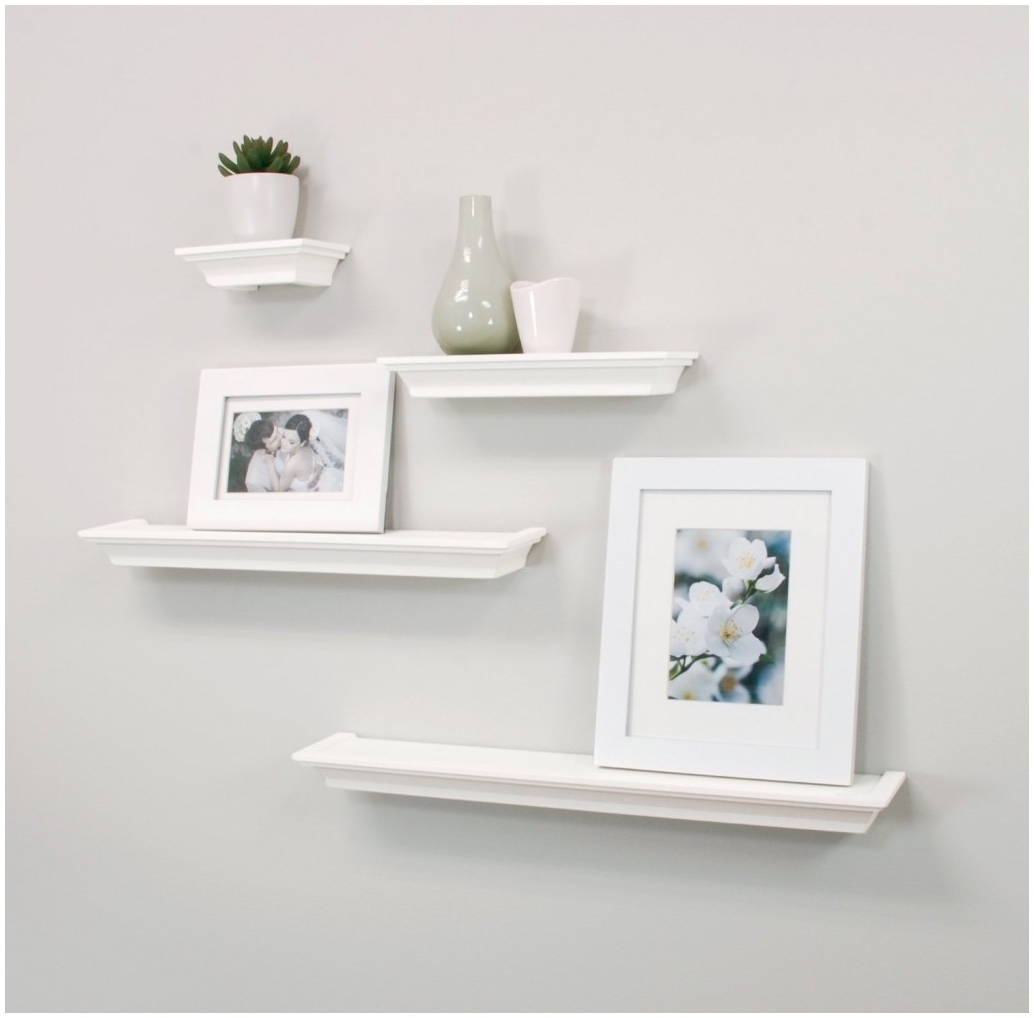 High Gloss White Floating Shelf 100cm Floating Shelf Shelving For Floating Shelf 100cm (Image 7 of 15)