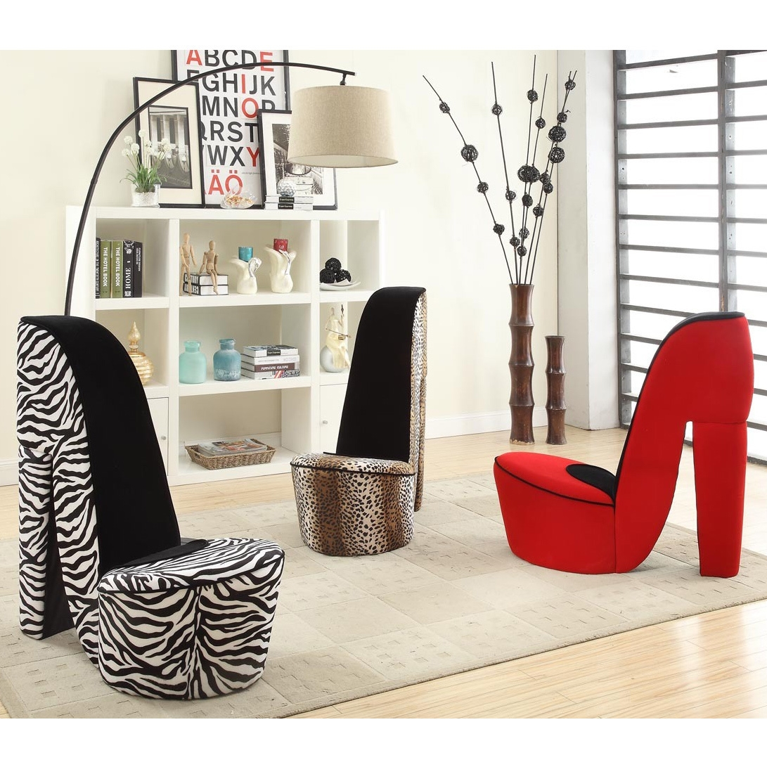 High Heel Shoe Fabric Chair In Heel Chair Sofas (Image 9 of 15)