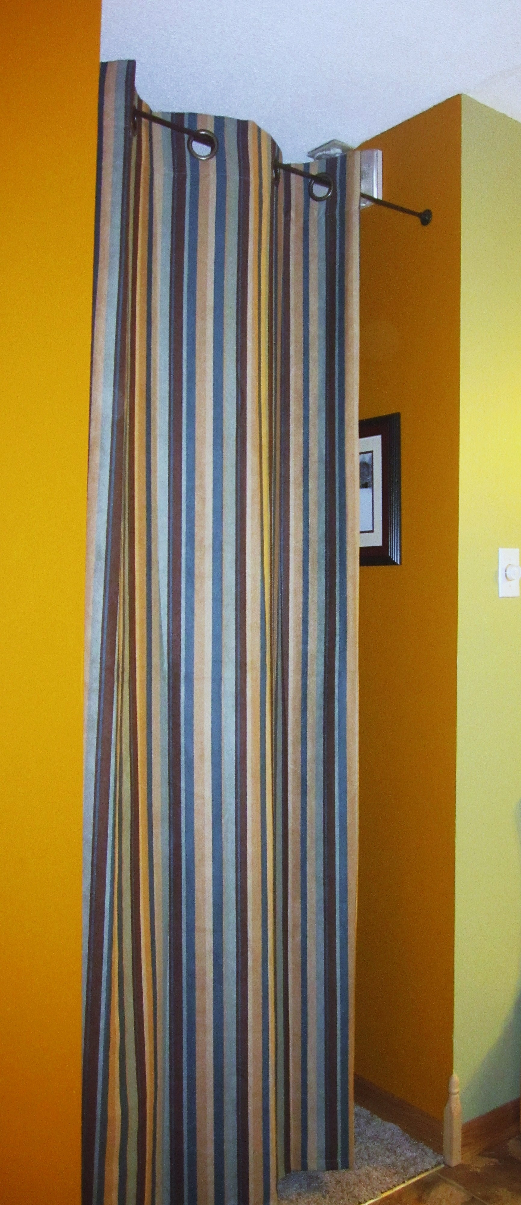 High Small Stripped Room Divider Ideas With Curtain Flanked With With Regard To Room Curtain Dividers (View 23 of 25)