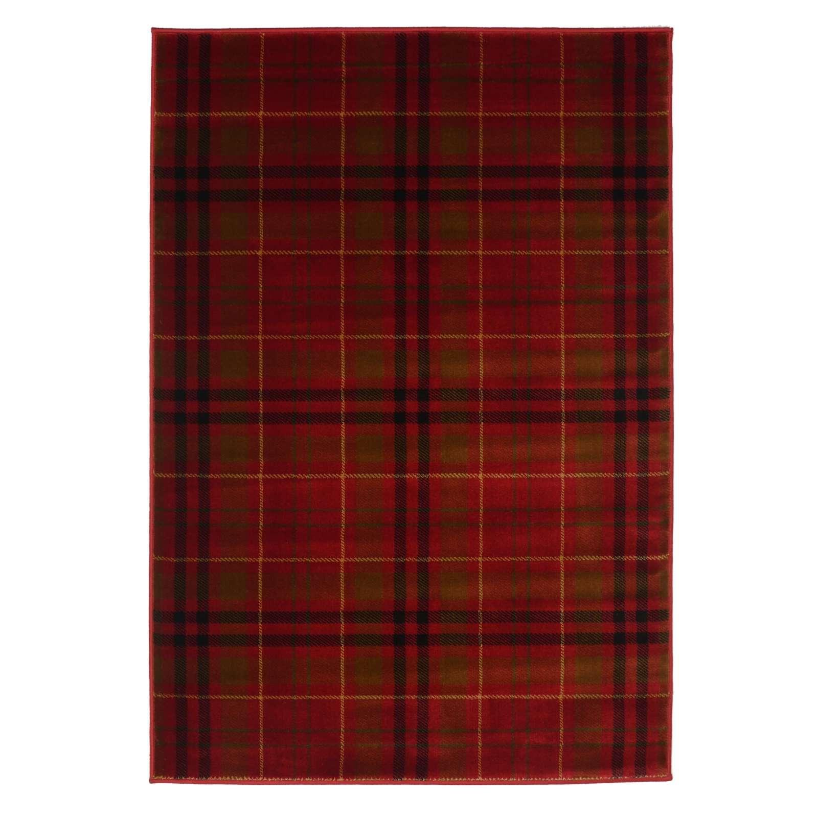 Highland Tartan Rug In Red Inside Tartan Rugs (View 14 of 15)