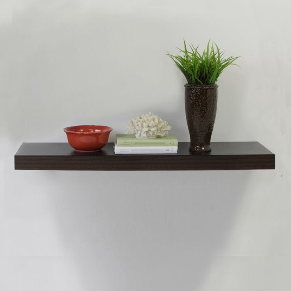 Home Decorators Collection 236 In W X 102 In D X 2 In H Pertaining To Floating Shelves (Image 11 of 15)