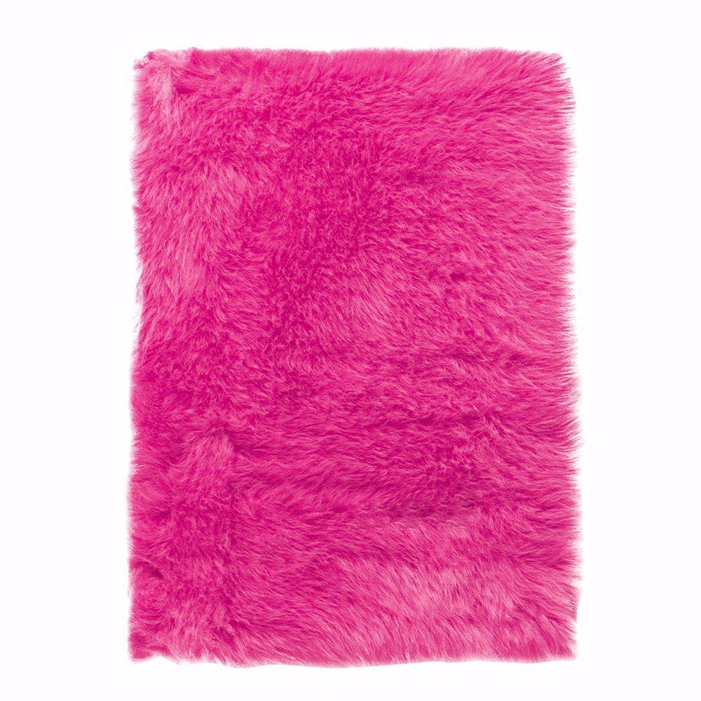 Home Decorators Collection Faux Sheepskin Hot Pink 3 Ft X 5 Ft In Fuschia Pink Carpets (Image 7 of 15)