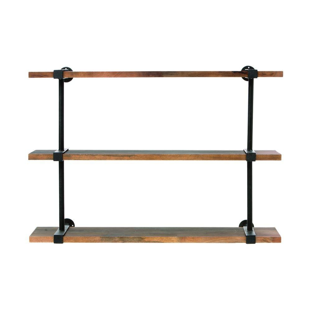Home Decorators Collection Studio 40 In W Wood Craft Wall Shelf With Regard To Wall Shelf (Image 4 of 15)