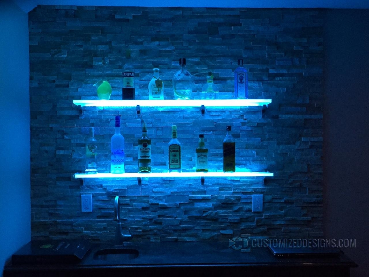 Featured Image of Floating Glass Shelves For Bar