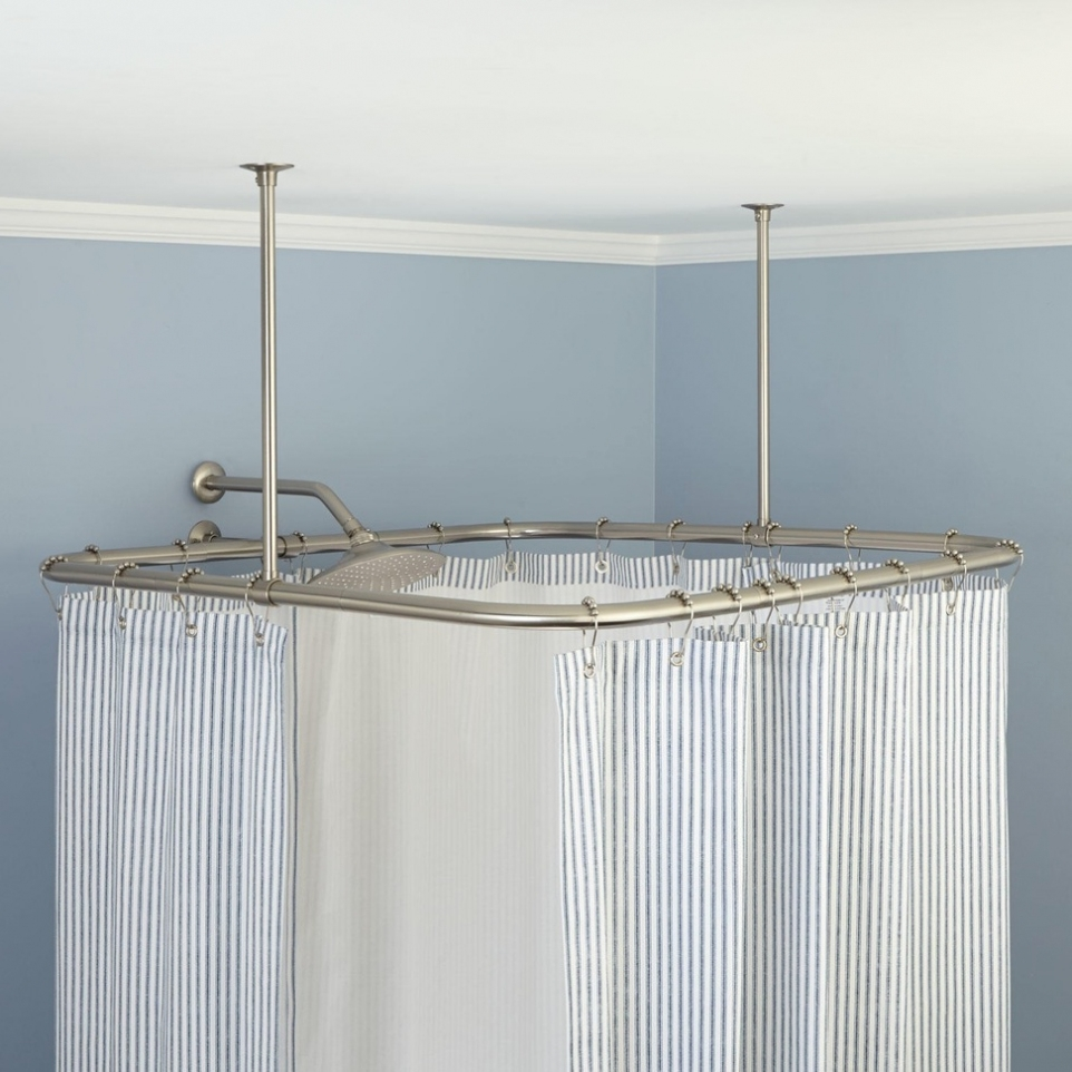 Home Design Shower Curtain Rod Hang From Ceiling With Regard To Pertaining To Deep Curtain Rods (View 12 of 25)