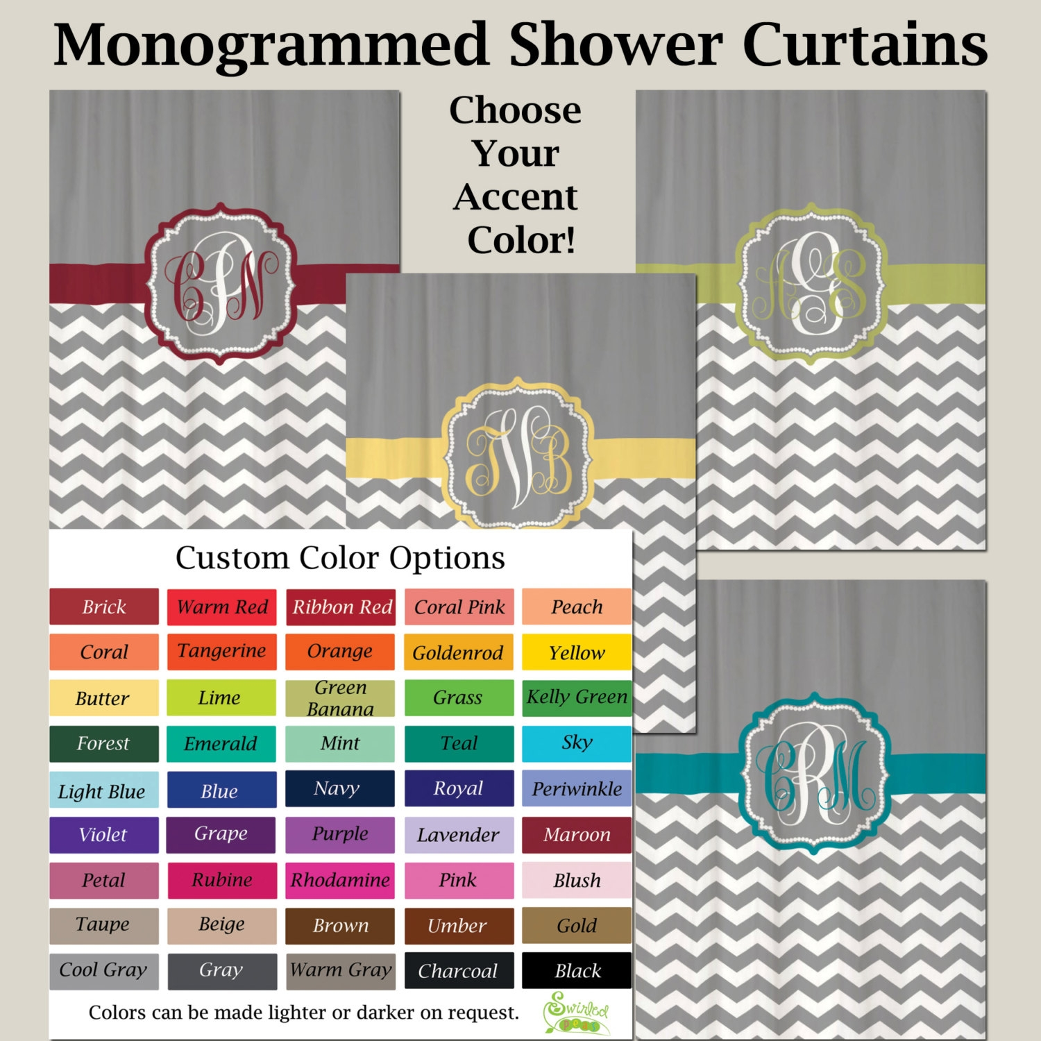 Home Improvement Style Pertaining To Gray Chevron Shower Curtains (Image 14 of 25)
