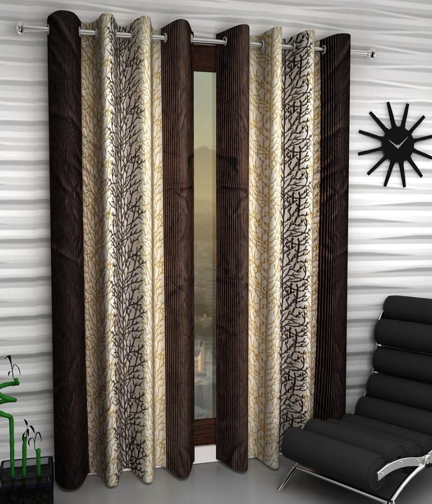 Home Sizzler Set Of 2 Window Eyelet Curtains Buy Home Sizzler Intended For Brown Eyelet Curtains (Image 10 of 25)