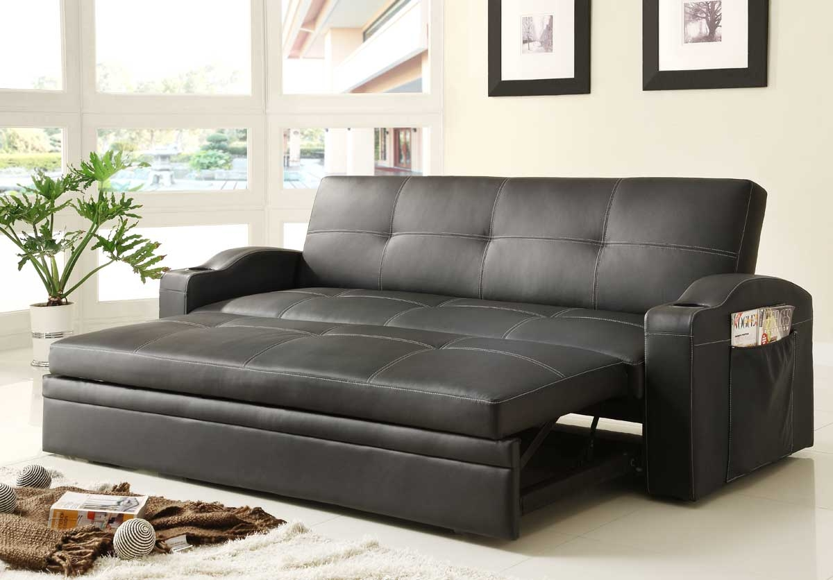 Homelegance Novak Elegant Lounger Sofa With Pull Out Trundle Within Pull Out Sofa Chairs (Image 7 of 15)