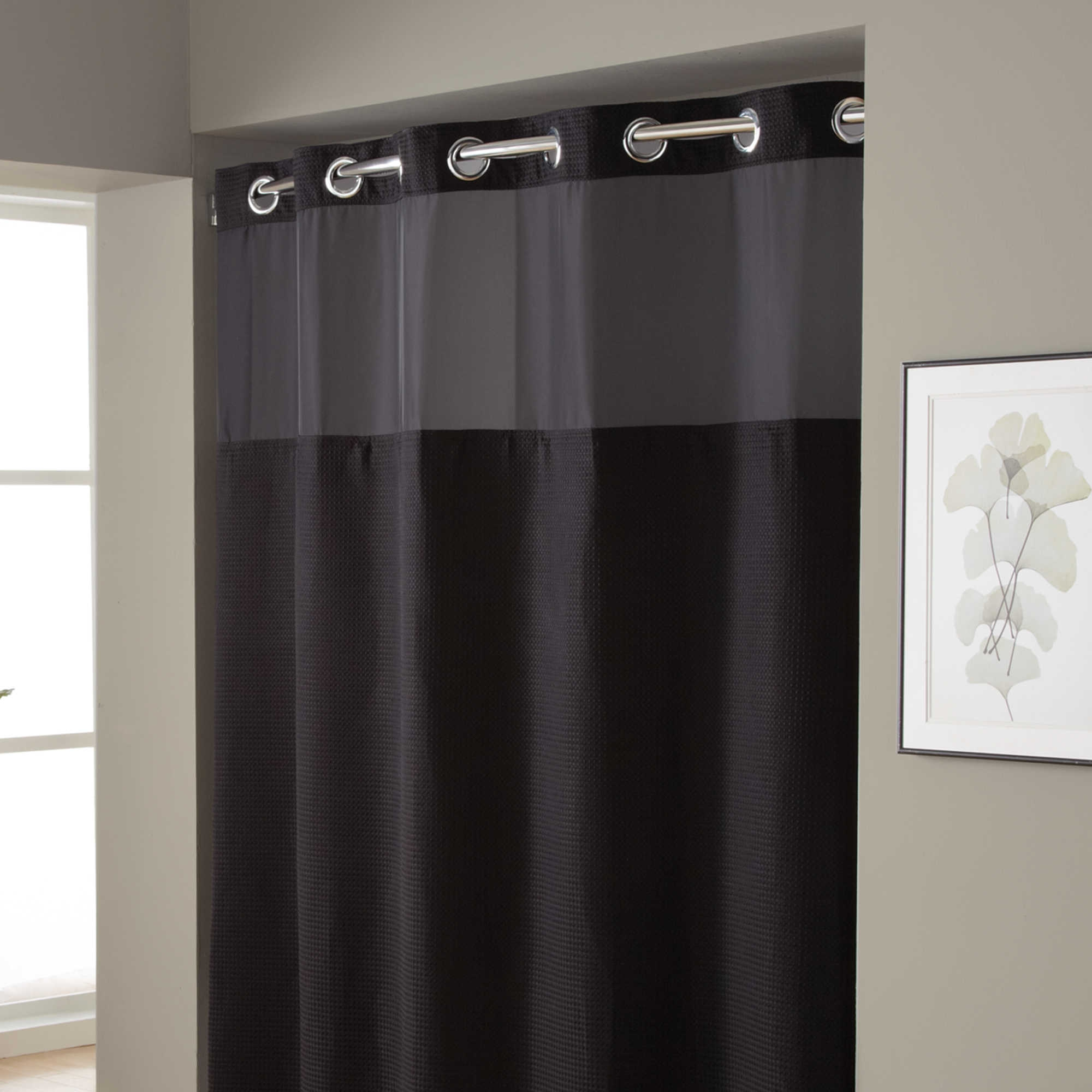 Hookless Extra Wide Shower Curtain Curtains Decoration With Hookless Fabric Shower Curtain Liner (Image 13 of 25)
