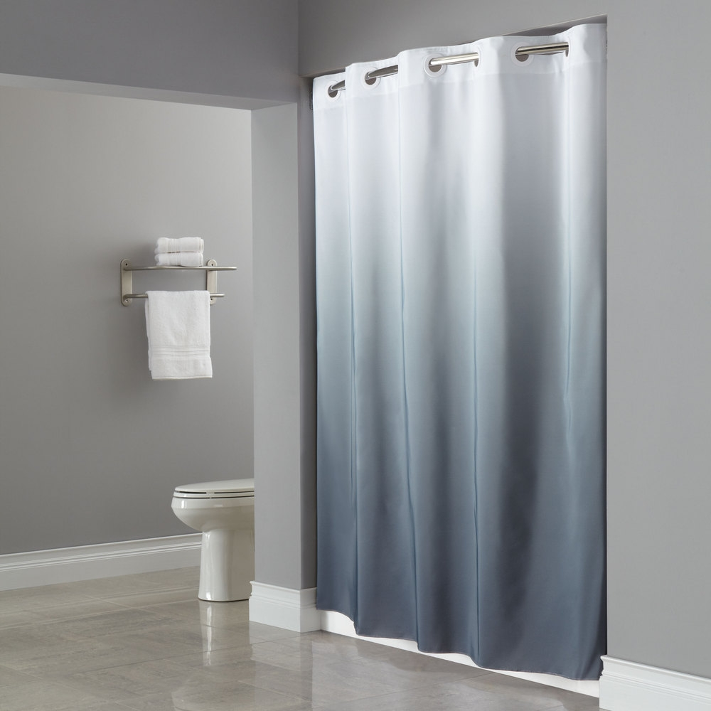 Hookless White Shower Curtain Curtains Decoration Regarding Hookless Fabric Shower Curtain Liner (Image 21 of 25)