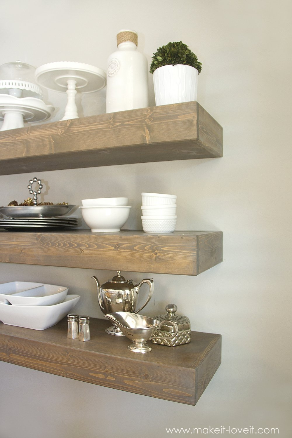 How To Build Simple Floating Shelves For Any Room In The House Within Floating Shelves (Image 12 of 15)