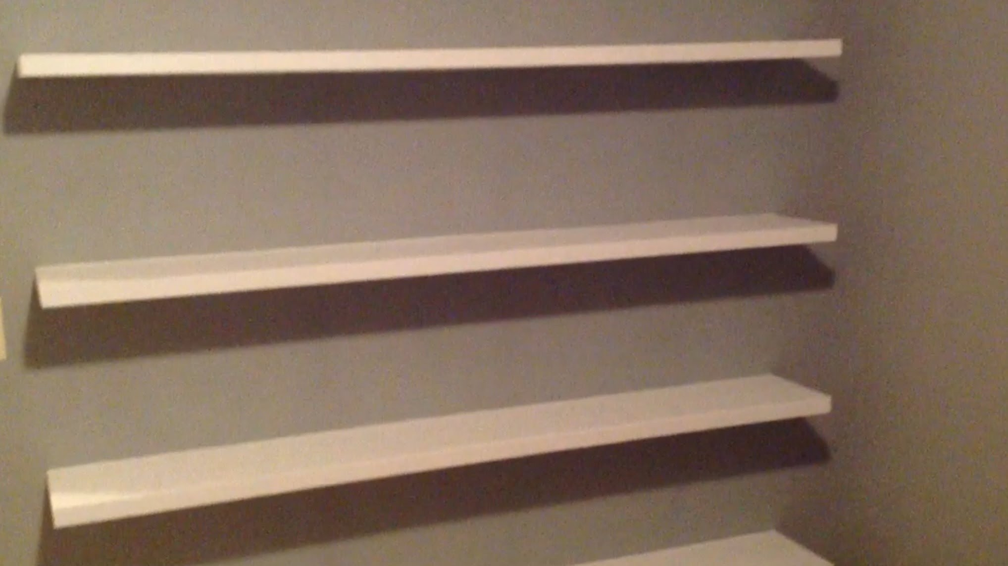 How To Build Sleek Free Floating Wall Shelves Youtube In Cheap Wall Shelves (Image 8 of 15)